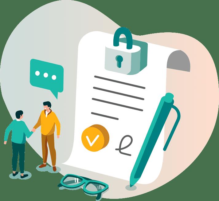 illustration gestion simplifiée et sécurisée des documents