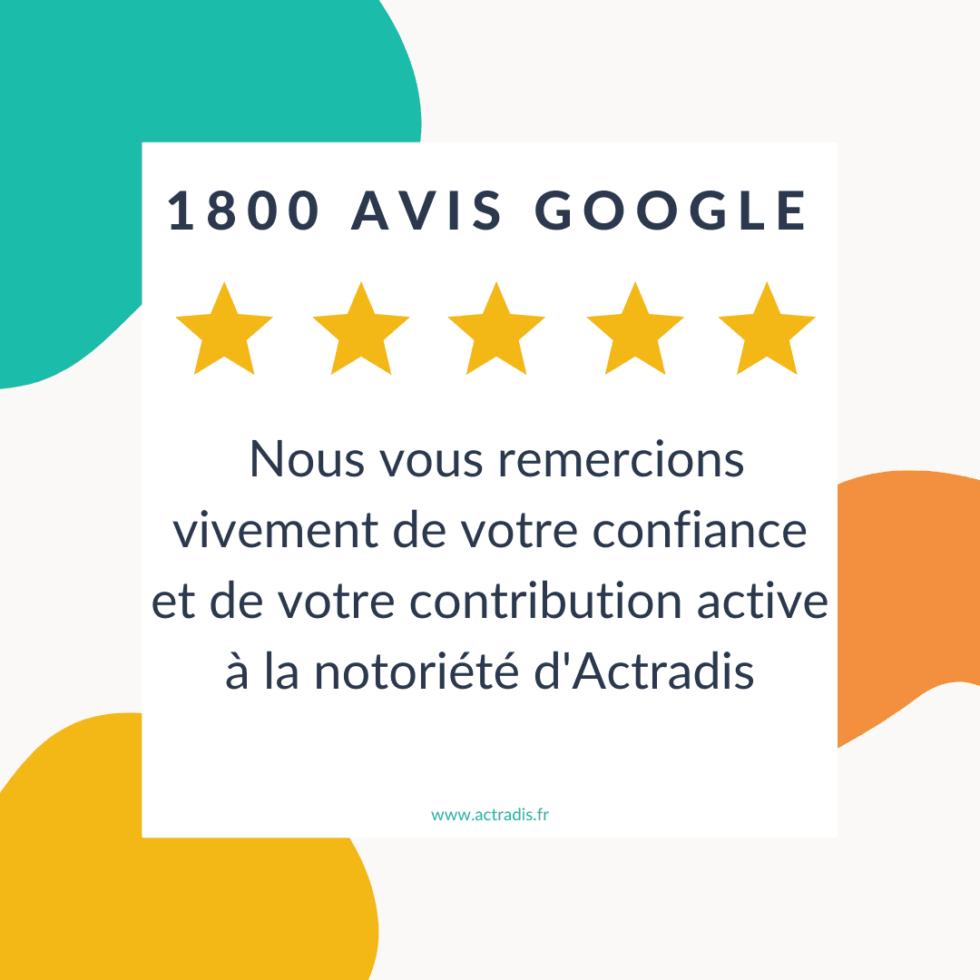 1800 avis pour Actradis !